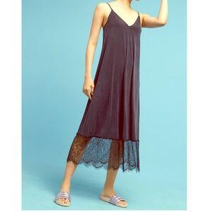Anthropologie (Eri + Ali) Laced Hem Slip Dress